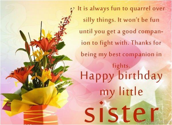 happy birthday my little sister