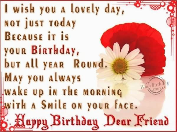 happy birthday dear friend quotes