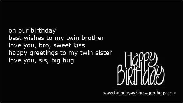 happy birthday quotes for twins brother and sister