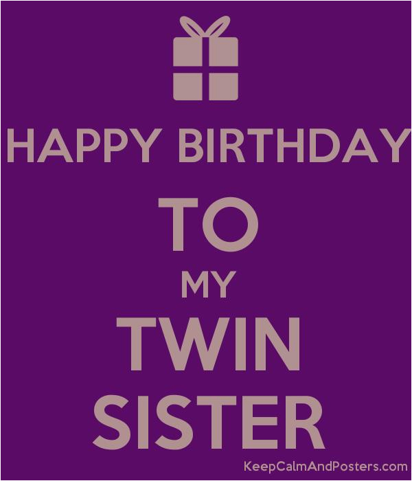 happy birthday twin sister images