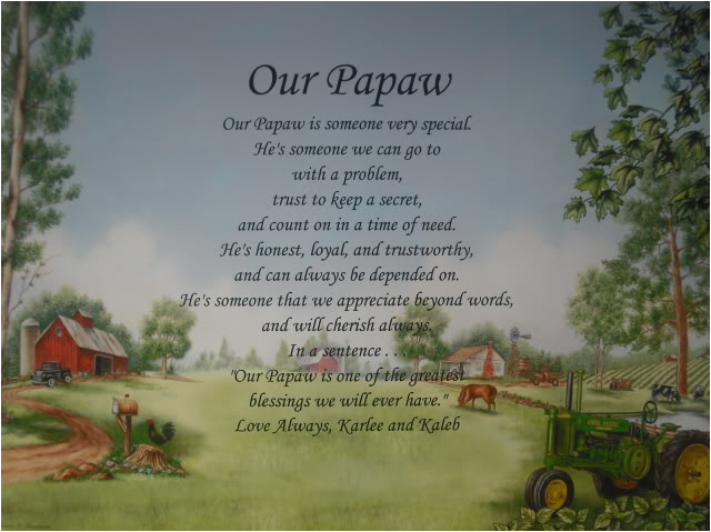 our papaw personalized poem birthday christmas or fathers day gift