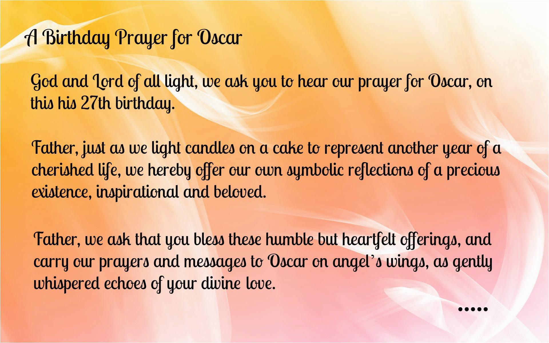 Happy Birthday Prayer Quotes Christian Prayers Quotesgram