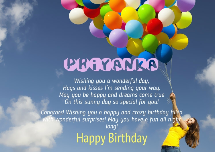 Happy Birthday Priyanka Quotes Birthday Congratulations for Priyanka
