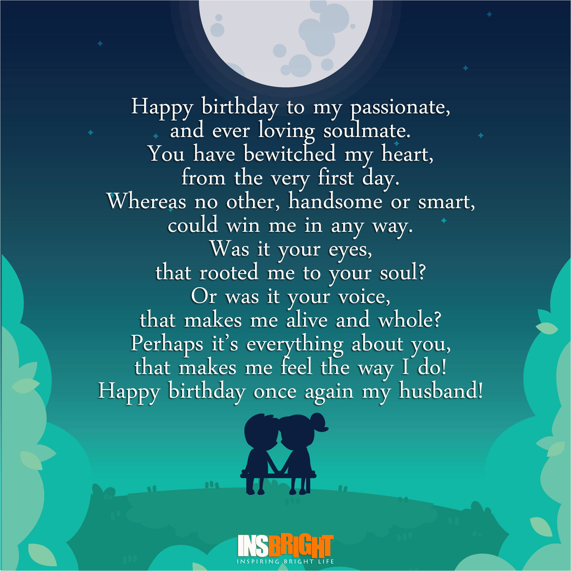 happy birthday poems for husband