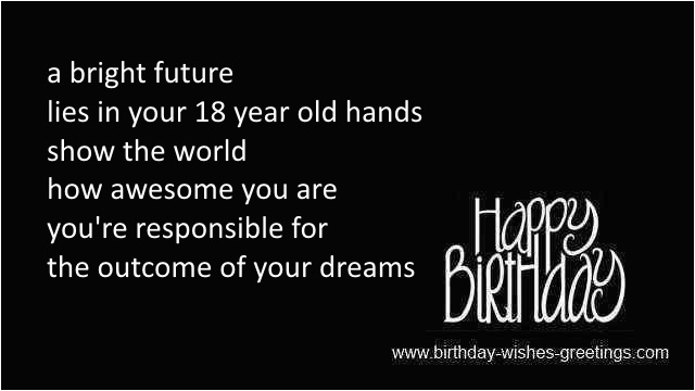 Happy Birthday Quotes 18 Year Old 18th Greetings Best Friend Bday Wishes