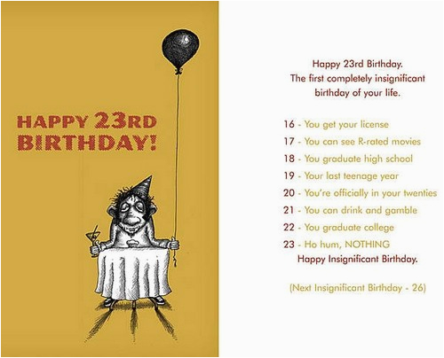 Happy Birthday Quotes 23 Years Old 23rd Wishesgreeting