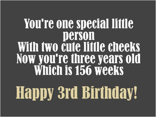 Happy Birthday Quotes for 3 Year Old son 3rd Birthday Messages and Poems to Write In A Card Holidappy