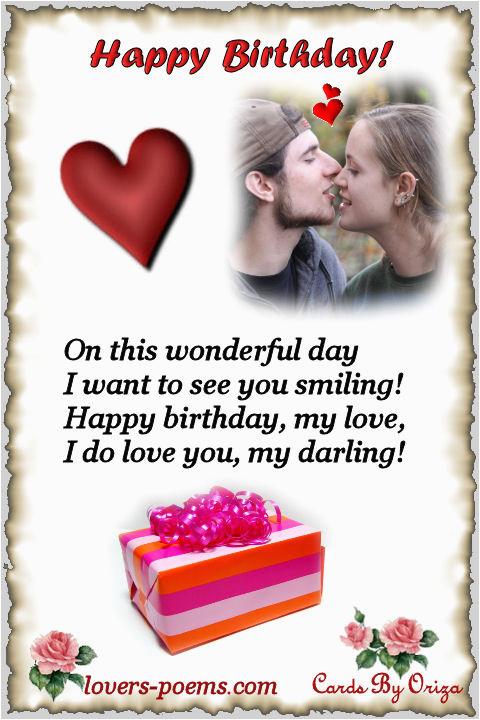 Happy Birthday Quotes for A Lover Happy Birthday oriza Net Portal Lovers Poems Com