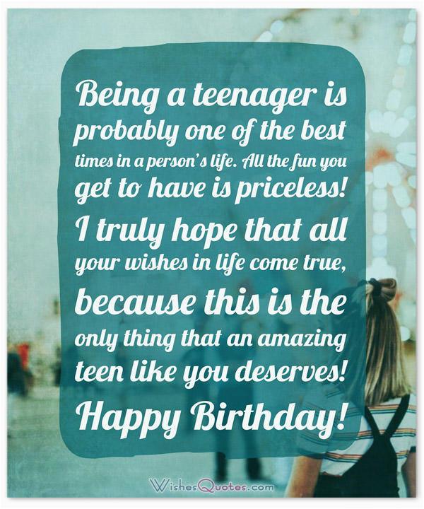 amazing birthday wishes teenagers
