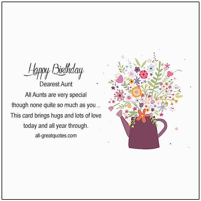 Happy Birthday Quotes For Aunts Free Cards Aunt