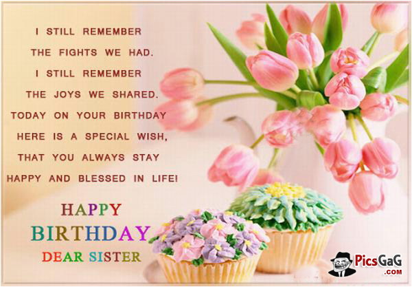 happy birthday quotes for deceased sister