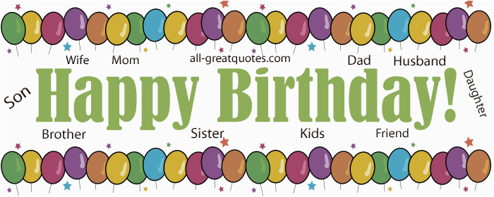 birthday quotes for family members