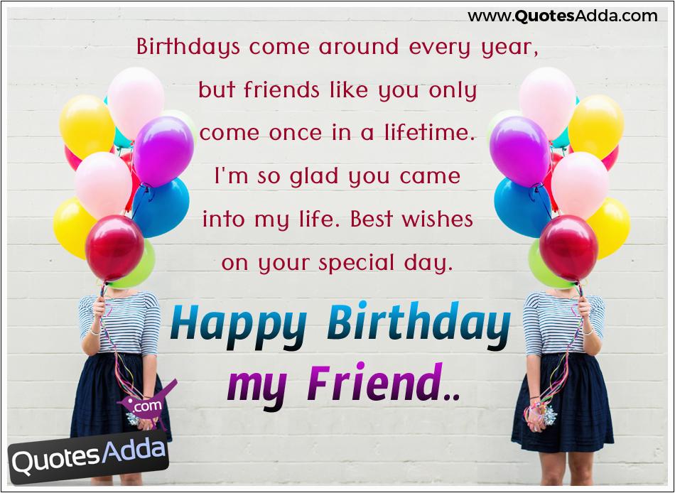 happy birthday my friend quotations wishes