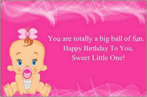 cute happy birthday wishes for baby girl birthday messages quotes greeting cards