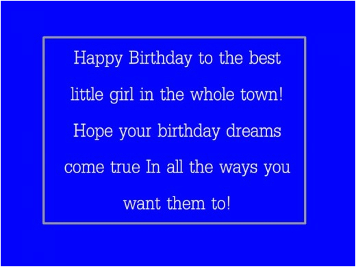 little girl happy birthday quotes