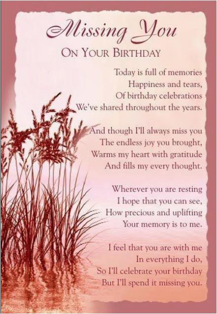 happy birthday mom i love you miss you