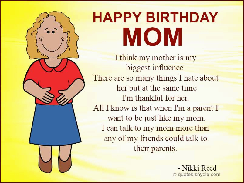 Happy Birthday Quotes For My Mother Happy Birthday Mom Quotes Quotes