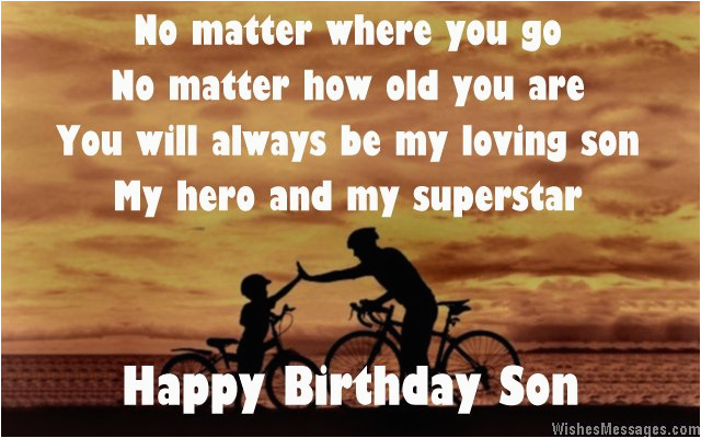 Happy Birthday Quotes for My son From Mom Birthday Poems for