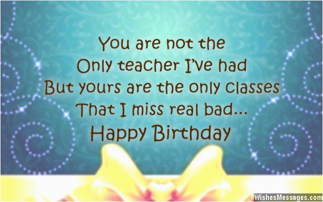 birthday quotes for teachers