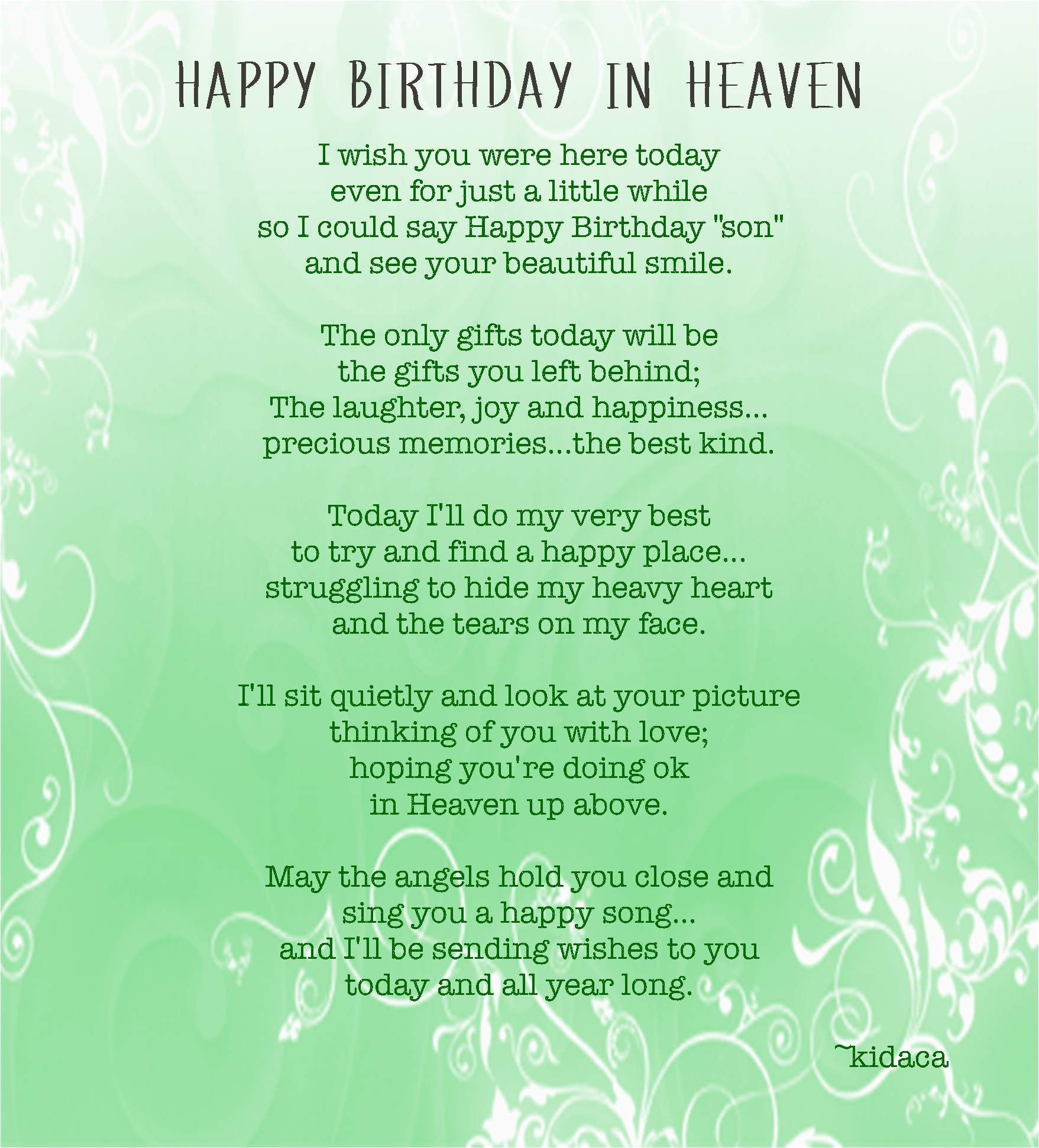 birthday quotes passed away