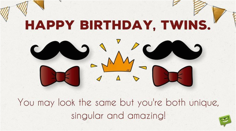 happy birthday to you and to you birthday wishes for twins