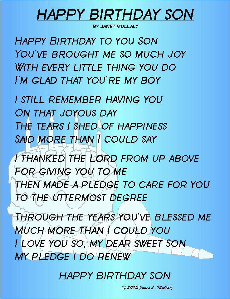 Happy Birthday Quotes From Mother to son Happy Birthday son Quotes Quotesgram