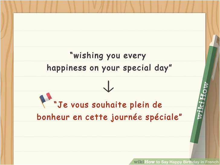 say happy birthday in french