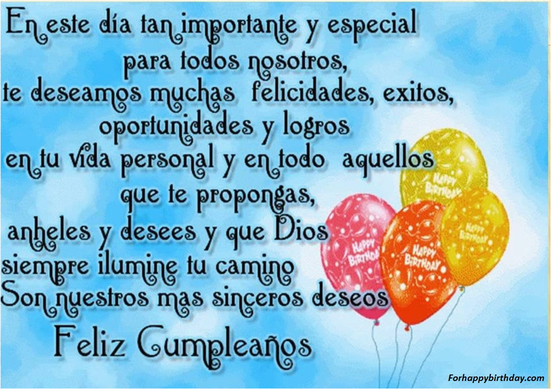 Happy Birthday Quotes Spanish Friend Messages Sms Wishes