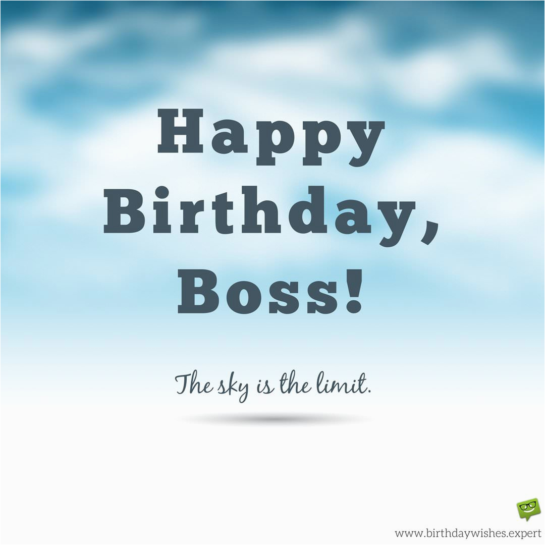 happy birthday wishes for my boss