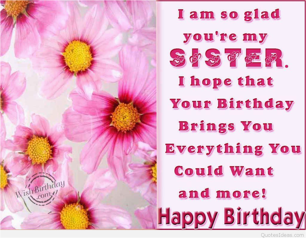 dear sister happy birthday quote wallpaper