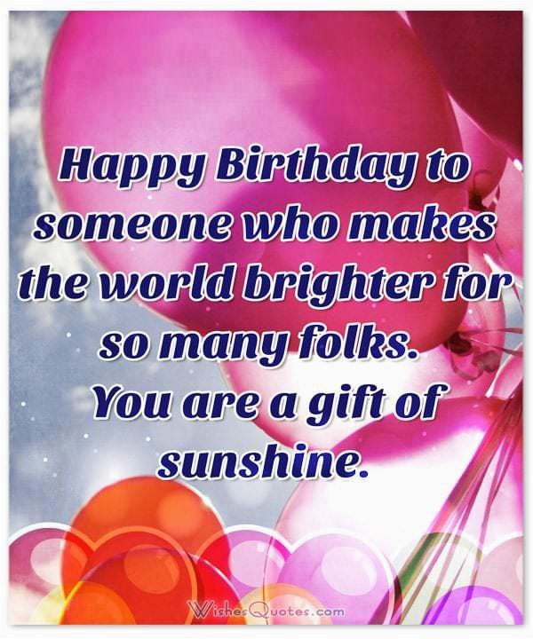 birthday wishes someone special