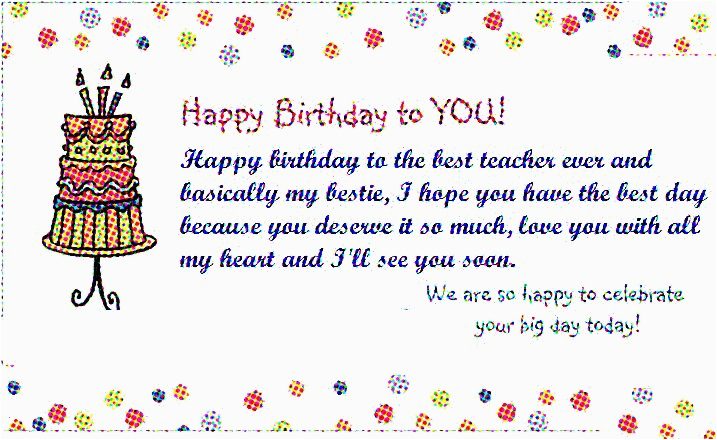 teacher birthday wishes