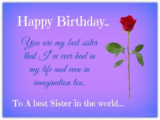 birthday quotes for sister wishes for sister