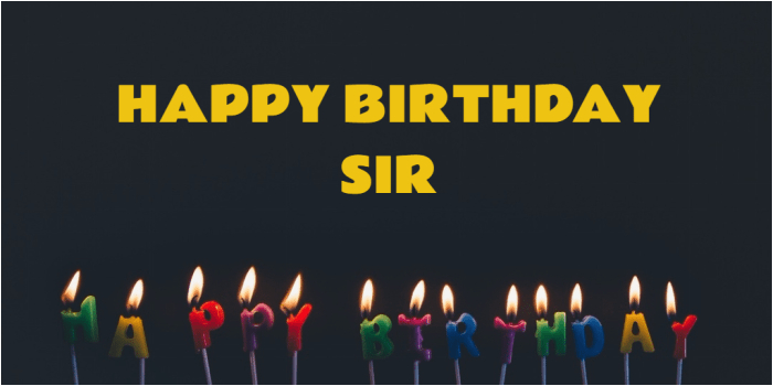 birthday wishes sir