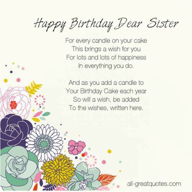 birthday quotes for sister in heaven