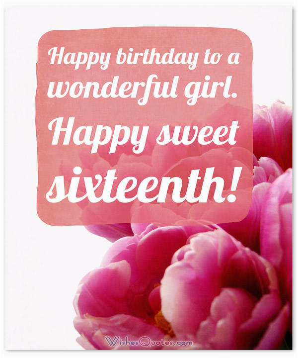 sweet 16th birthday messages