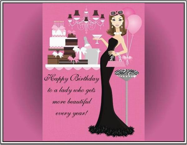 happy birthday to beautiful woman