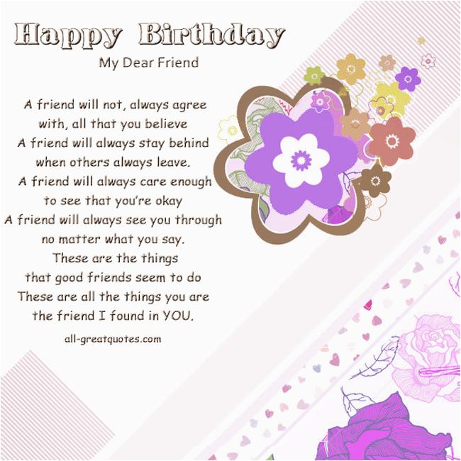 dear friend birthday quotes