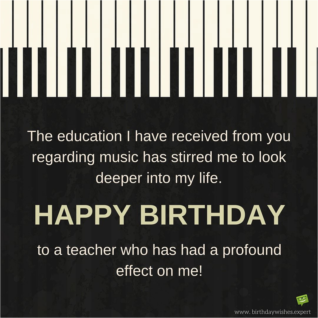 birthday wishes for teachers professors and instructors
