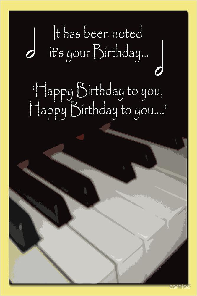 6950830 happy birthday piano card
