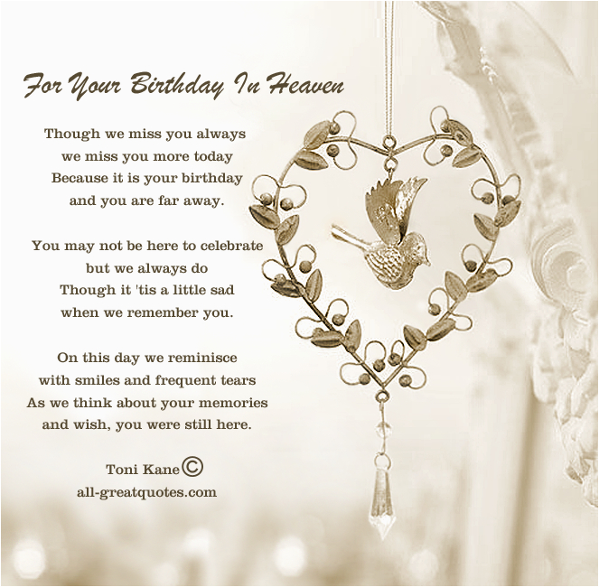 lost loved ones birthday quotes