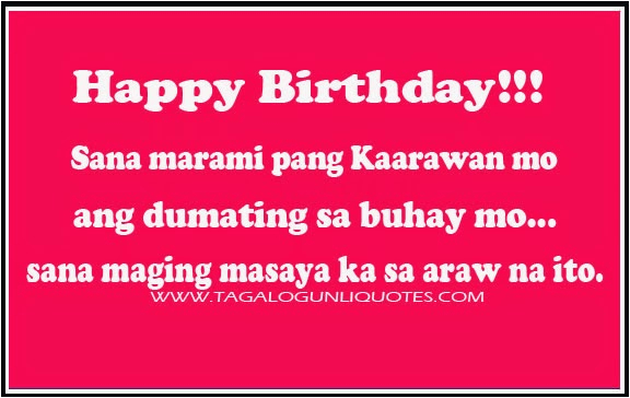 filipino birthday quotes