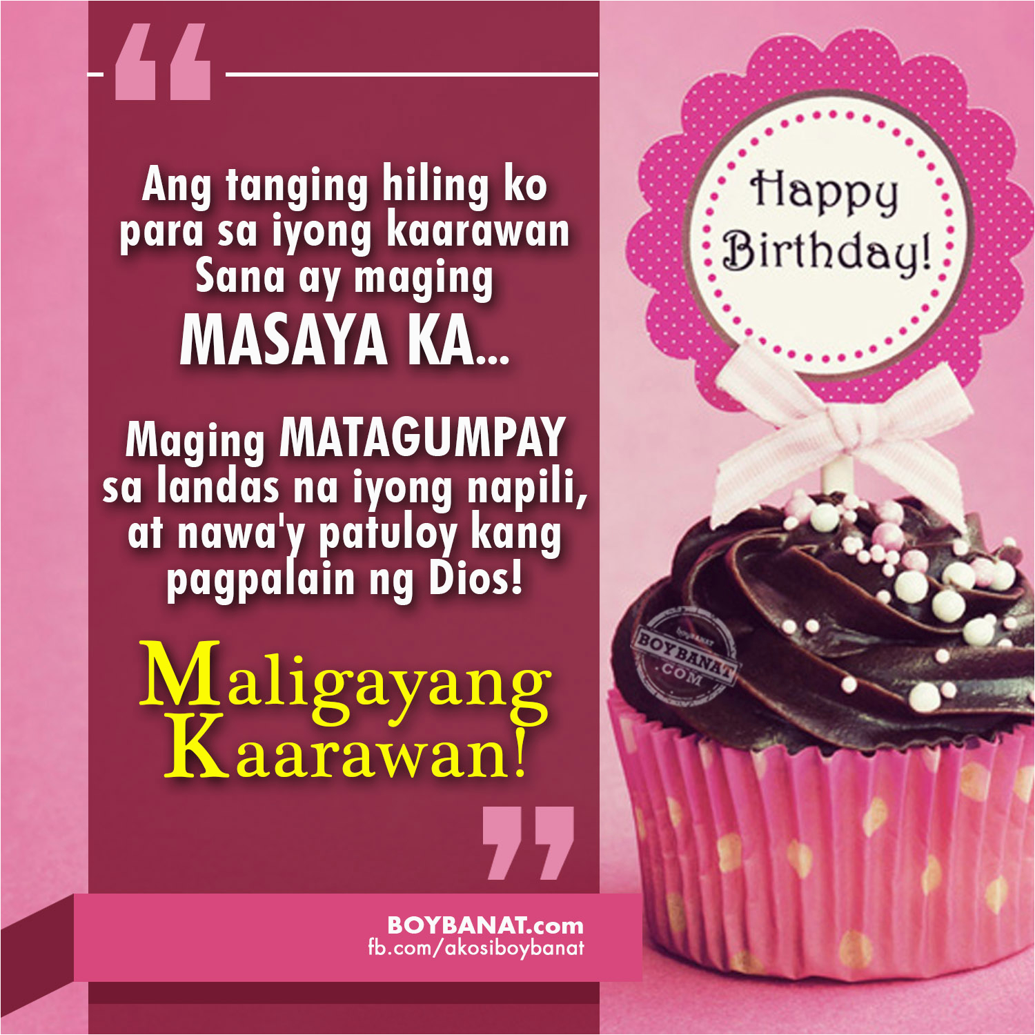 Happy Birthday to Me Quotes Tagalog Happy Birthday Quotes and Heartfelt Birthday Messages