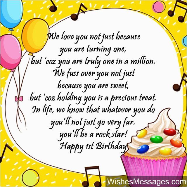 Happy Birthday to My 1 Year Old son Quotes 1st Birthday Wishes First Birthday Quotes and Messages
