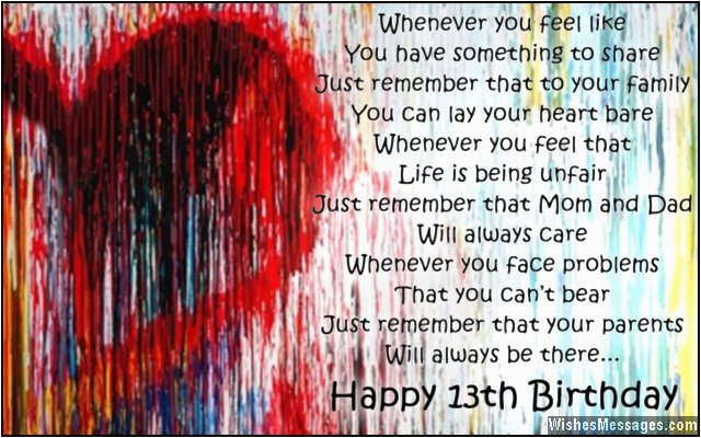 Happy Birthday To My 13 Year Old Daughter Quotes 13th Wishes For Son Or