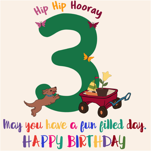 on your 3rd birthday