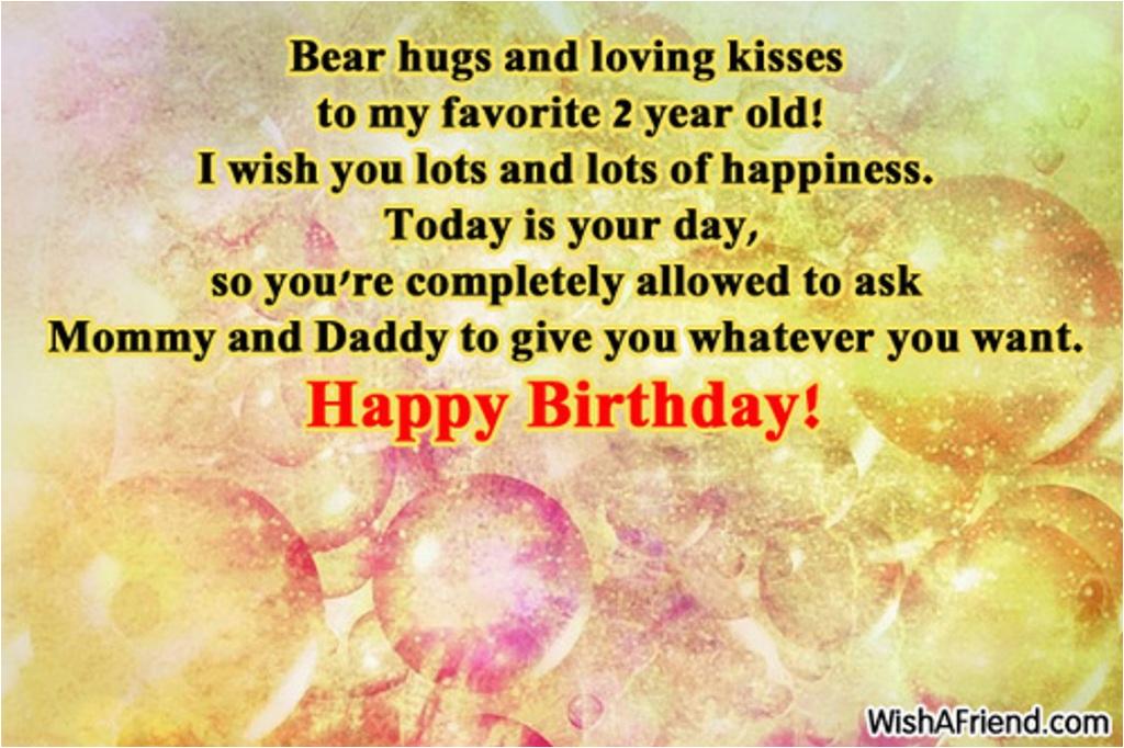 second birthday wishes