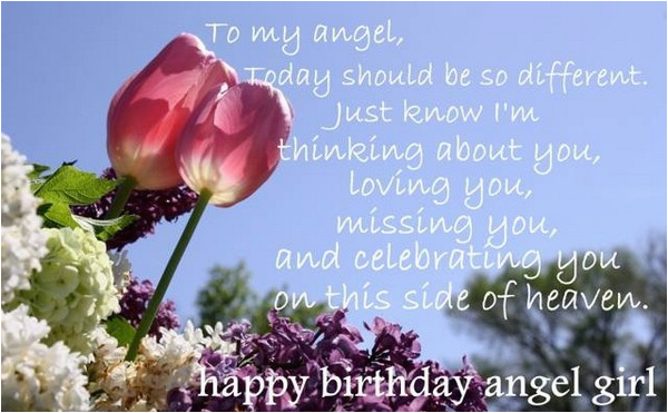 Happy Birthday To My Angel In Heaven Quotes 72 Beautiful Happy