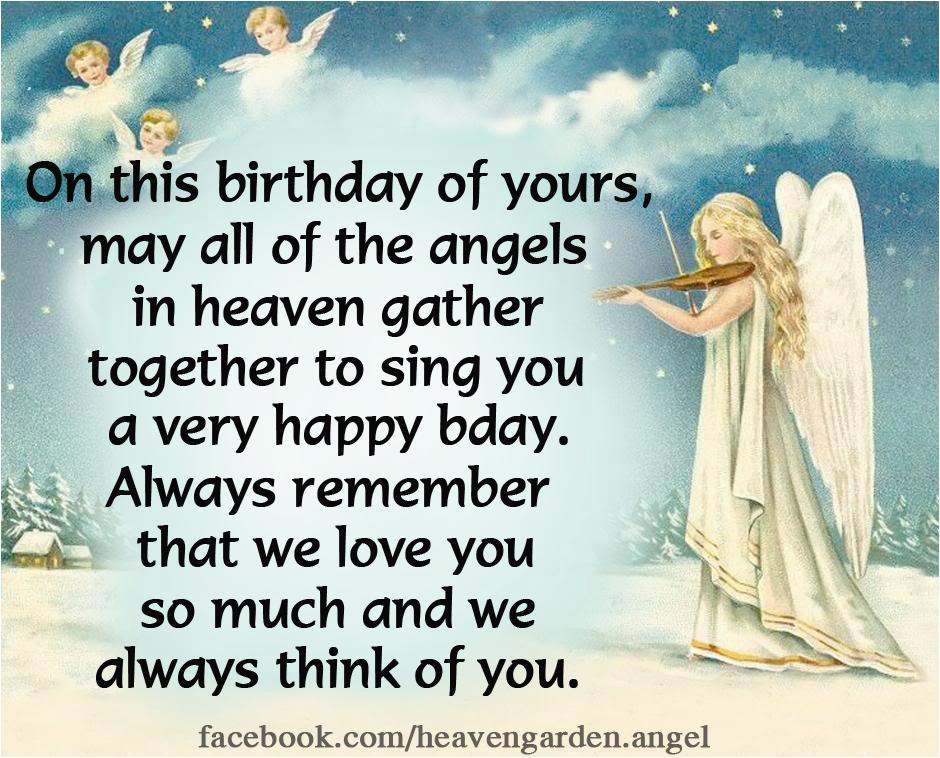 happy birthday in heaven messages