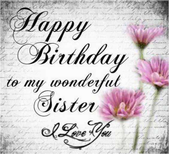 happy birthday to my wonderful sister
